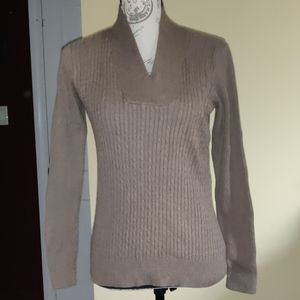 100 Percent Cotton Jeanne Pierre Sweater Brown S